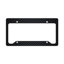 Carbon Mesh Pattern License Plate Holder