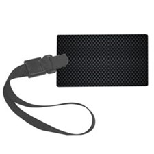 Carbon Mesh Pattern Luggage Tag