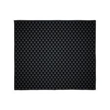 Carbon Mesh Pattern Throw Blanket