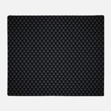 Carbon Mesh Pattern Throw Blanket