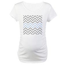 Grey and light Blue Chevrons Shirt