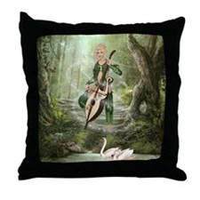 The Elven Forest Throw Pillow