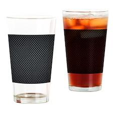 Carbon Mesh Pattern Drinking Glass