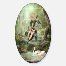The Elven Forest Sticker (Oval)