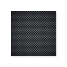 "Carbon Mesh Pattern Square Sticker 3"" x 3"""