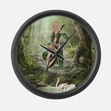 The Elven Forest Large Wall Clock
