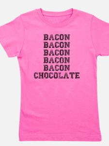 Bacon and Chocolate...Need I say more? Girl's Tee