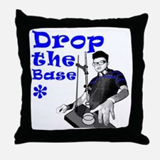Drop The Base Blue Throw Pillow