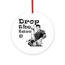Drop The Base Black Round Ornament