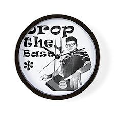 Drop The Base Black Wall Clock