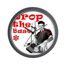 Drop The Base Red Wall Clock