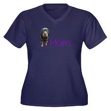Unique Rottie Women's Plus Size V-Neck Dark T-Shirt