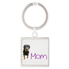 Cute Rotty Square Keychain