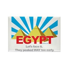 Egypt Peaked Early Rectangle Magnet