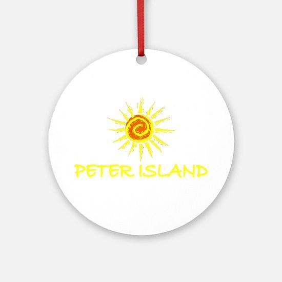 Peter Island, B.V.I. Ornament (Round)