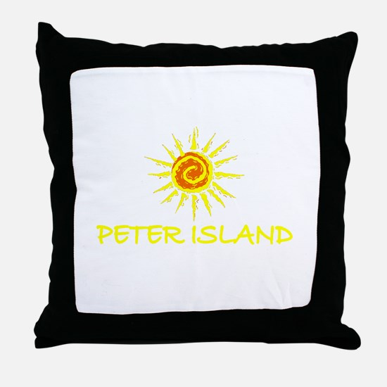 Peter Island, B.V.I. Throw Pillow