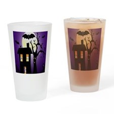 Haunted house Fun Drinking Glass