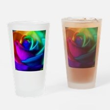 rainbow rose fractal Drinking Glass