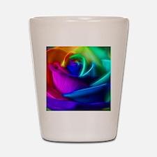 rainbow rose fractal Shot Glass