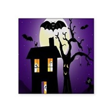 "Haunted house Fun Square Sticker 3"" x 3"""