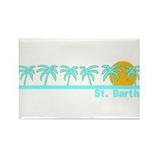 St. Barths Rectangle Magnet (10 pack)