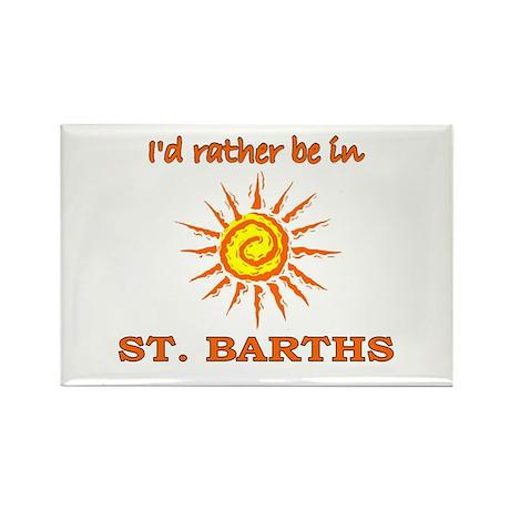 I'd Rather Be In St. Barths Rectangle Magnet (100