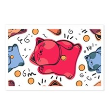 Japanese Fortune Cat Postcards (Package of 8)
