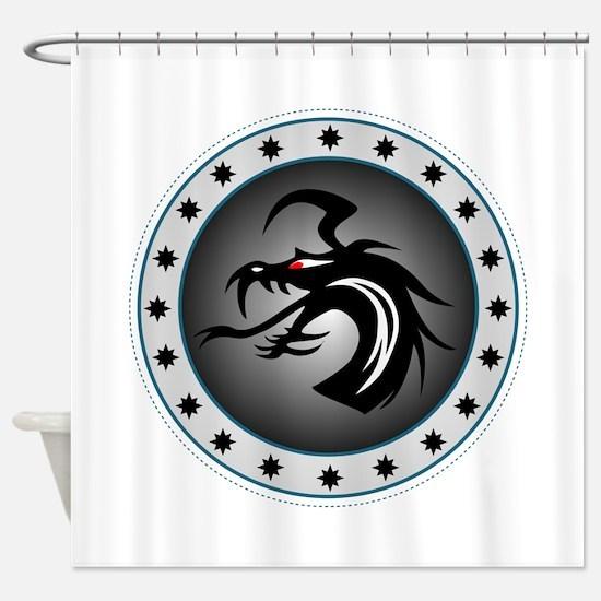 Dragon Sigil Shower Curtain
