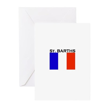 St. Barths Flag Greeting Cards (Pk of 10)