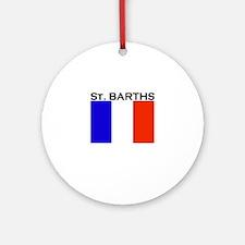 St. Barths Flag Ornament (Round)