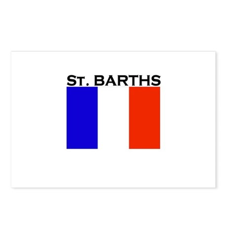 St. Barths Flag Postcards (Package of 8)