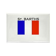 St. Barths Flag Rectangle Magnet