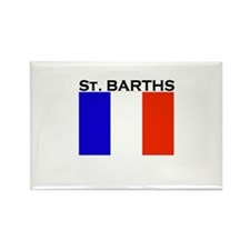 St. Barths Flag Rectangle Magnet (10 pack)