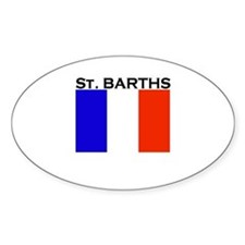 St. Barths Flag Oval Decal