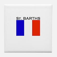 St. Barths Flag Tile Coaster