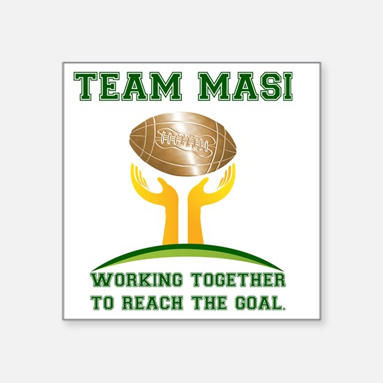 "Team Masi Logo Square Sticker 3"" x 3"""