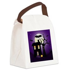 Haunted house Fun Canvas Lunch Bag