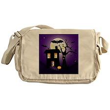 Haunted house Fun Messenger Bag