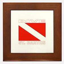 Dive St. Barths Framed Tile