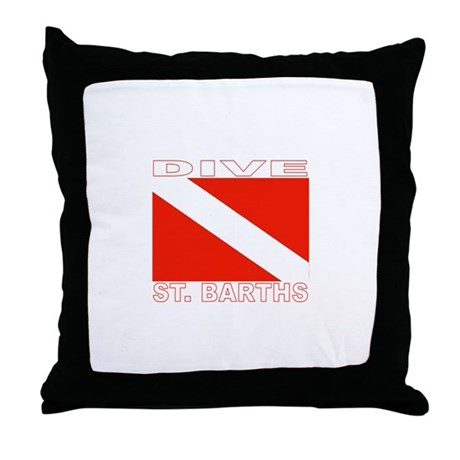 Dive St. Barths Throw Pillow