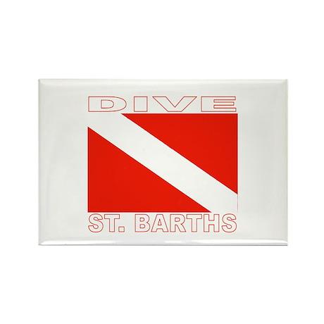 Dive St. Barths Rectangle Magnet (10 pack)
