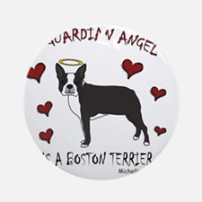 boston terrier Round Ornament