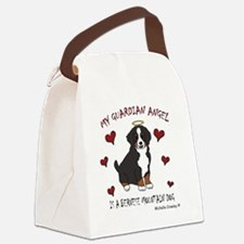 bernese mountain dog Canvas Lunch Bag