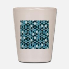 Blue Tiles Shot Glass