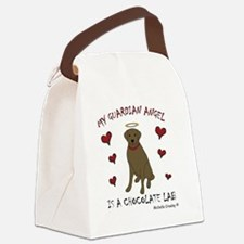 chocolate lab Canvas Lunch Bag