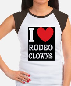 rodeo clowns dark butto Women's Cap Sleeve T-Shirt