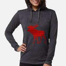 Moose: Rustic Red Plaid Long Sleeve T-Shirt