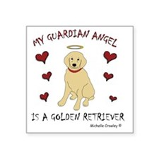 "golden retriever Square Sticker 3"" x 3"""