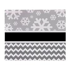 Snowflake Chevron Throw Blanket