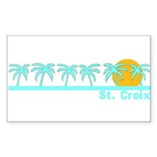 St. Croix, USVI Rectangle Decal